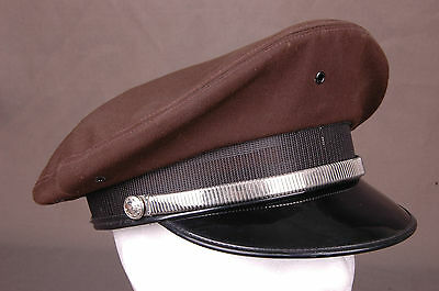Vtg Officer Hat-Police Military Cop-Universal Uniform Co-7 1/8-Brown-Made in USA