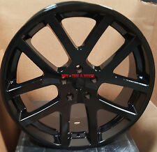 "22"" Gloss Black Rims SRT10 Viper Style Wheels Fit Dodge Charger Challenger 300C"