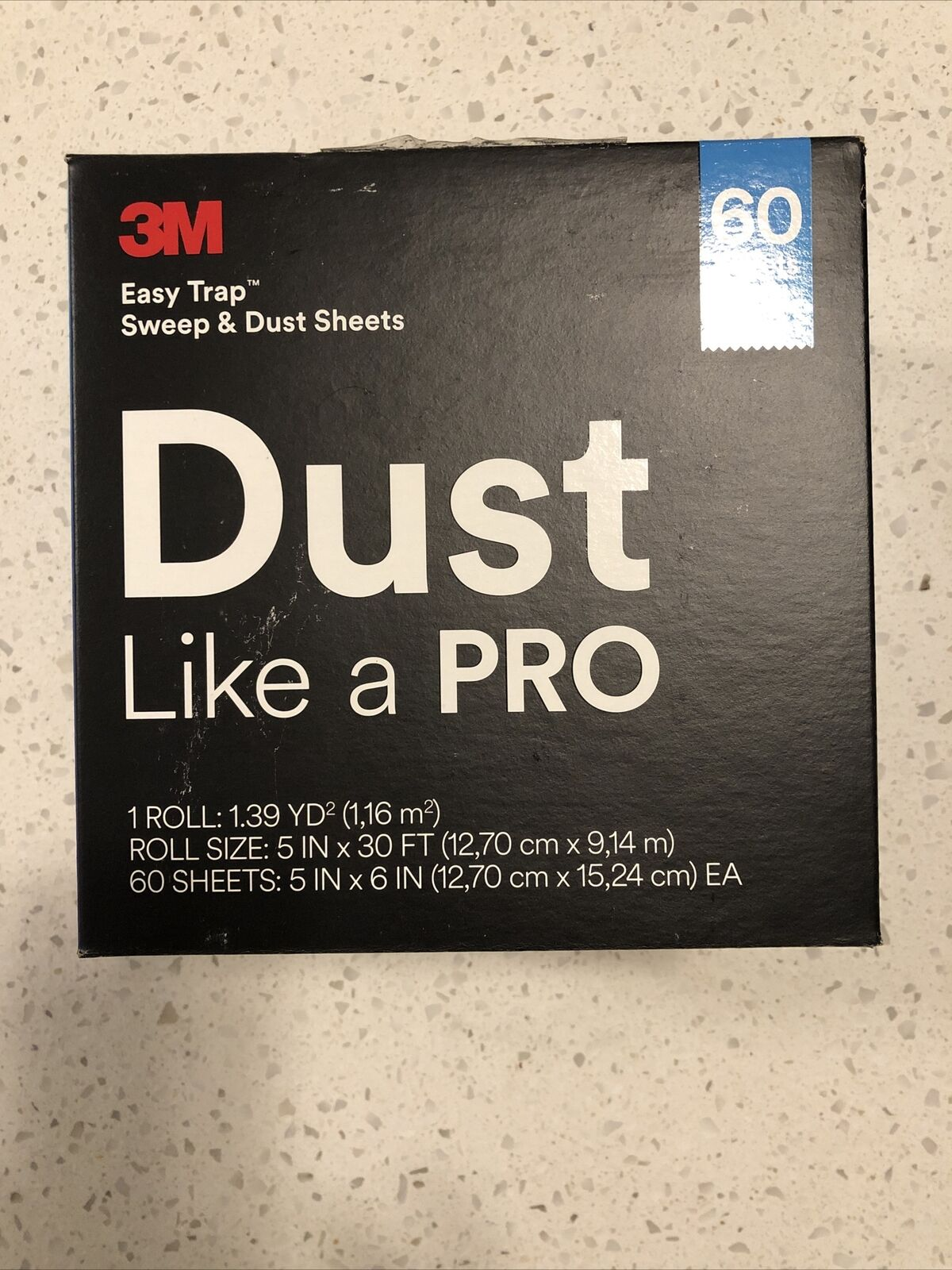 """3M Easy Trap Sweep & Dust Sheets (Like a Pro) 60 Sheets 1 Roll 5"""" X 30'"""