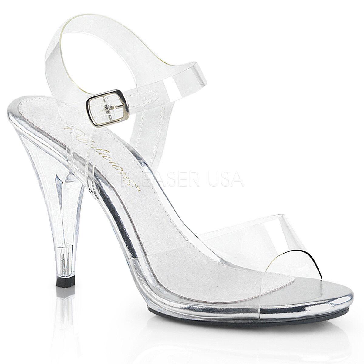 PLEASER FABULICIOUS FABULICIOUS PLEASER CARESS-408 CLEAR BIKINI COMPETITION SANDALS Schuhe 667916