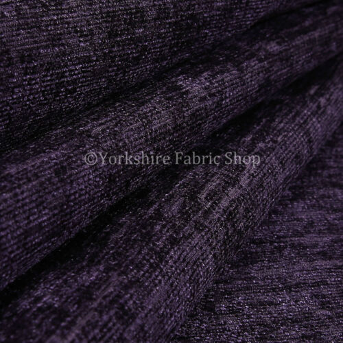 10 Metres Of Shimmer Shine Curtain Sofa Upholstery Chenille Fabric Purple Colour