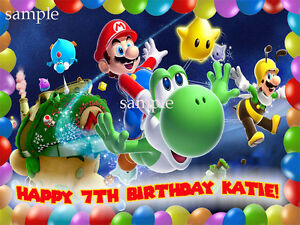 SUPER-Mario-GALAXY-Edible-ICING-Image-Decoration-CAKE-Topper-FREE-SHIPPING