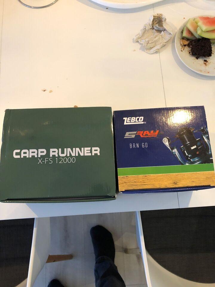 Fastspolehjul, Carp runner & zebco