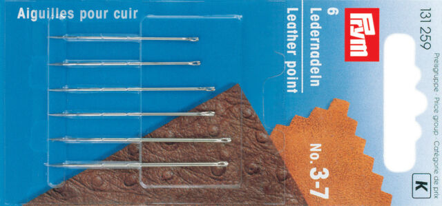 per pack of 6 124429 Prym Self Threading Sewing Needles with Gold Eye