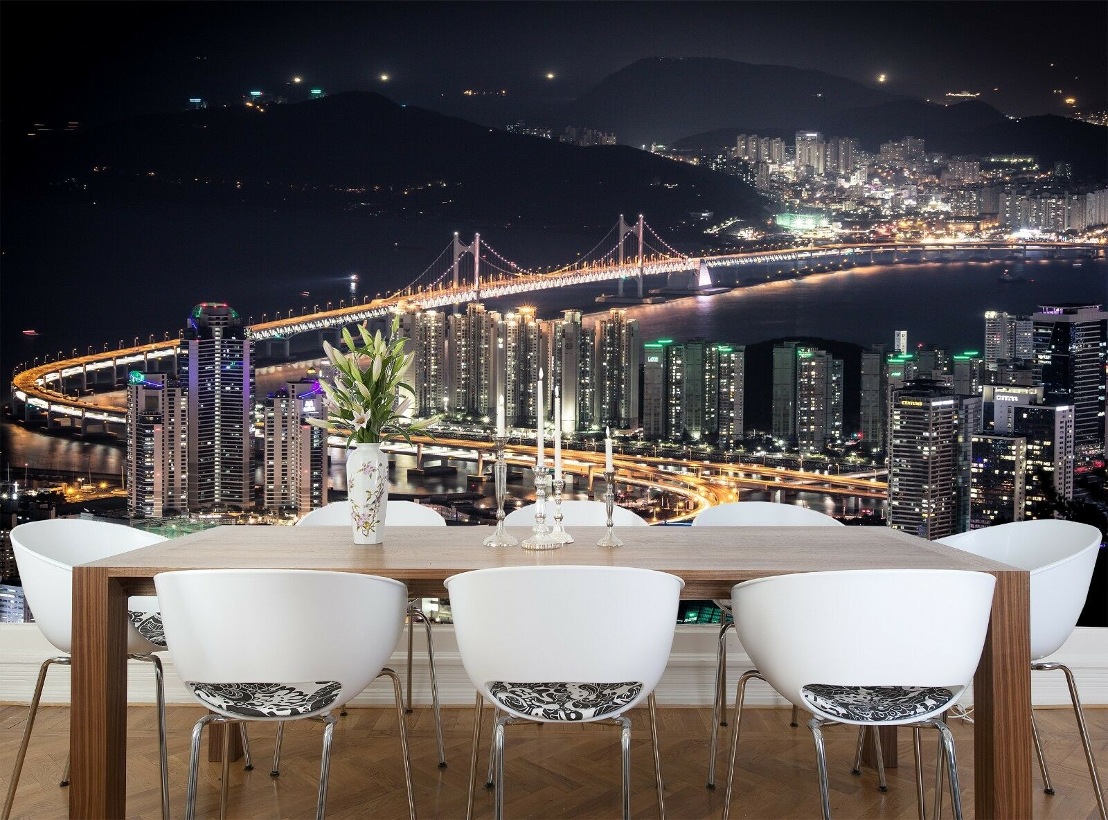 City of Night  Photo Wallpaper Wall Mural DECOR Paper Poster Free Paste