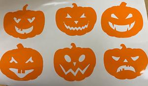 Spooky Halloween Vinyle Fenêtre//WALL DECALS Stickers citrouille