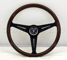 Nardi Classic Wood Steering Wheel - 390mm - Black Spokes w. H/B KBA/ABE 70065