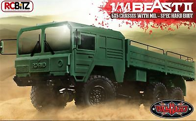 Attento Rc4wd 6x6 The Beast 2 Ii Camion Builder Kit Multi Asse Man Militare Metallo