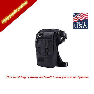 Men/'s Waterproof Waist Pack Drop Leg Bag Travel Hiking Hip Bag Motorcycle Pouch