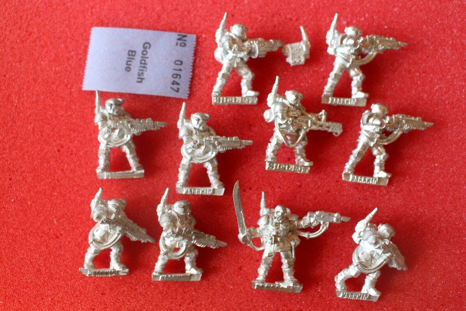 giocos lavoronegozio WARHAMMER 40k  kasrkin Stormtrooper Squad di mettuttio 10 cifra fuori catalogo N3  all'ingrosso economico e di alta qualità