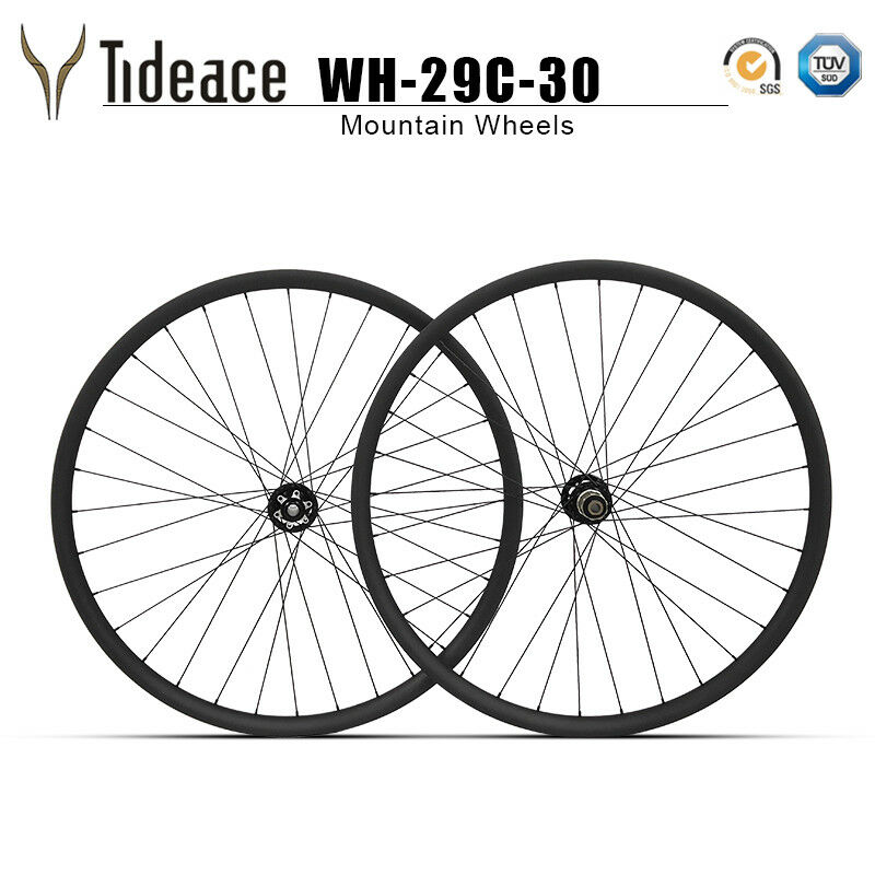 Carbon Fiber T800 Mountain Bicycle Wheels 29er 30mm Width MTB Bike Wheelset OEM