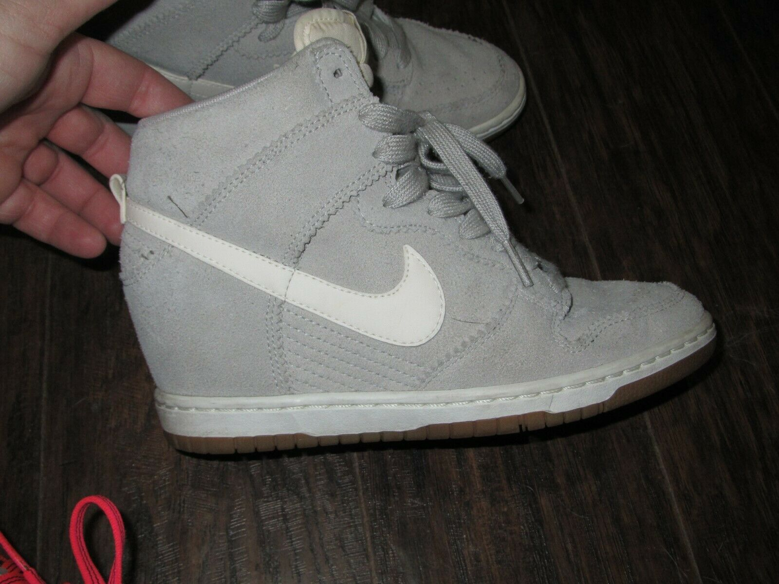 Nike Dunk Sky Hi High Wedge Light Grey Size 7