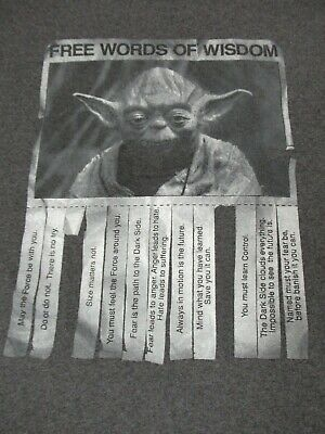 STAR WARS YODA FREE WORDS OF WISDOM TAKE ONE GRAY MEDIUM T ...
