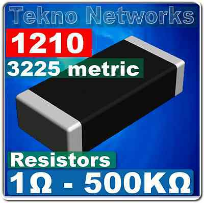 1210 ( 3225  Metric ) SMD / SMT Resistors - 100pcs [  Range: 1 - 1M Ohm ]