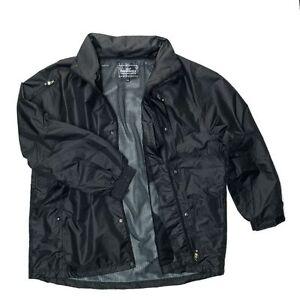 Kam-Big-Mens-Waterproof-Rain-Jacket-Black-3XL-4XL-5XL-6XL-7XL-8XL