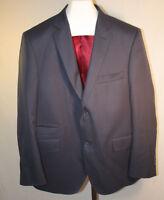 Custom Made Men's Navy Blue 2 Button Sport Suit Coat Size 44R