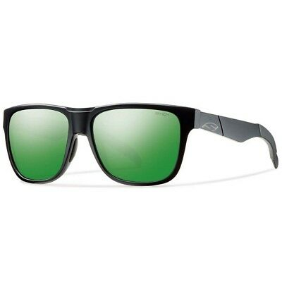 Smith Lowdown Matte Black Sunglasses w/ Green Sol-X Lens