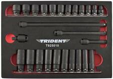 """Trident 26pc Impact Socket Set 3/8"""" Dr  Standard & Deep with Extensions and U/J"""