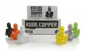 Apologies-to-Banksy-Rude-Copper-4-034-Figure-Black-White-Orange-Green-Yellow-Zebra