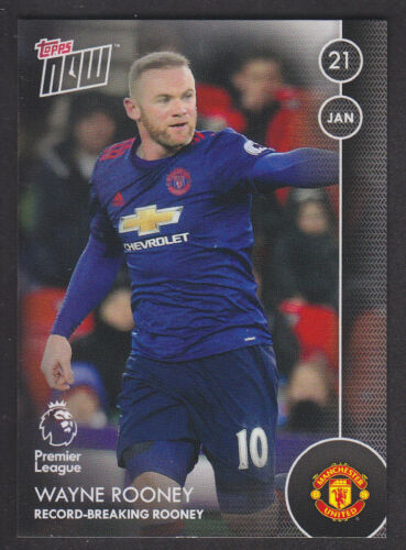 Manchester United //332 Premier League 2016//17-040 Rooney Record Topps Now