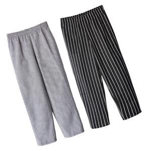 2x Pantalons De Chef Joggings Chef Homme Femme Cuisine Coton Blanc