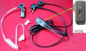 HEADSET-COIL-TUBE-EAR-MIC-W-VOX-FOR-MOTOROLA-2-JACK-FDC-amp-MIDLAND-G15-G18