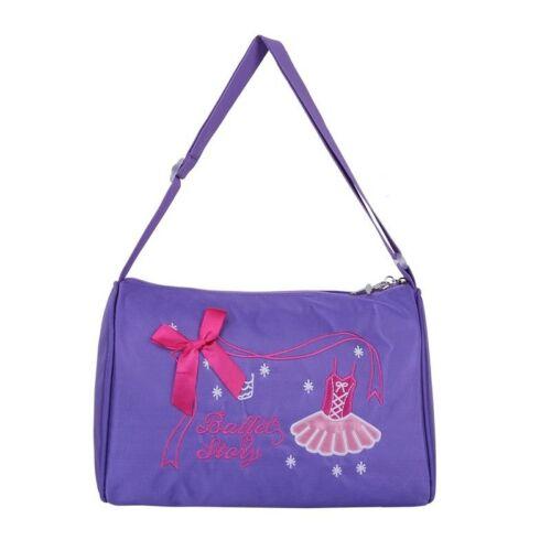 Cute Girls Ballet Dance Gym Bag Embroidered Shoulder Bag Hand Bag Duffel Bag UK