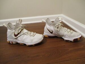 ce791590eda1 Used Worn Size 11 Nike LeBron 14 XIV Basketball Shoes White Wine ...