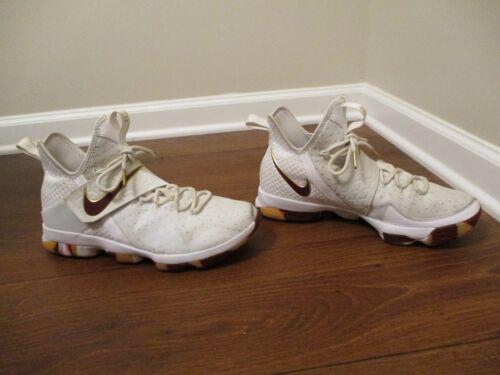 desgastados Xiv usados vino o baloncesto oro 11 Zapatos de Lebron tama blanco 14 Nike 0xqfq4nwa