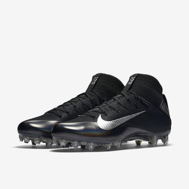 Nike Vapor Untouchable 2 Black/Anthracite Football Cleats 824470 002 size 10
