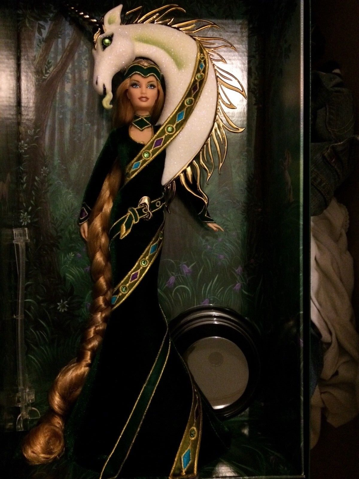 Gold label, Bob mackie, Lady of the unicorn barbie doll NRFB
