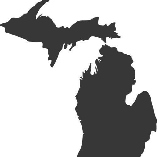 Michigan Upper and Lower Peninsula  copper//bronze plated wall decor small set
