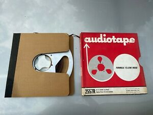 Vintage-10-5-034-Scotch-Metal-Take-up-Tape-Reel-Aluminum-w-Tape-amp-Box