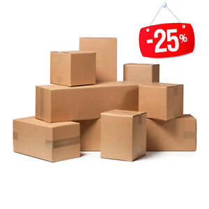 20-Stuecke-Box-Karton-Verpackung-Versand-40x40x20cm-Box-Havanna