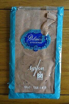 Acquista A Buon Mercato Vintage Belmont Completamente Fashioned Calze 30 Denari 10.5-11 Honeyglo-
