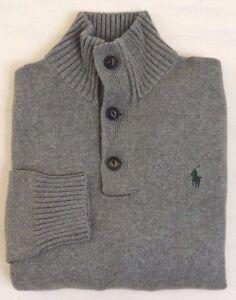 Polo-Ralph-Lauren-1-2-Button-Pony-Mockneck-Pullover-Sweater-Ski-Jumper-S-M-L-XL