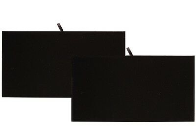 6 Wooden Jewelry Display Trays With Black Velvet Padded Display Pad Inserts