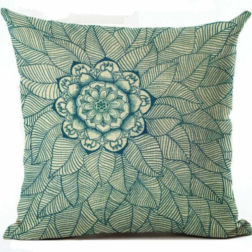 """18/"""" Cotton Linen Boho Geometric Decoration Pillow Case Cushion Cover Home Decor"""