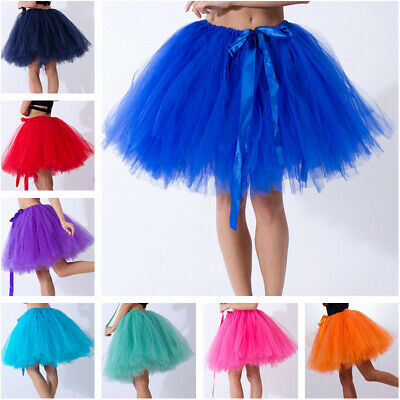 "12/"" Ruffle Tutu Petticoat Ladies Fancy Dress Underskirt Accessory"