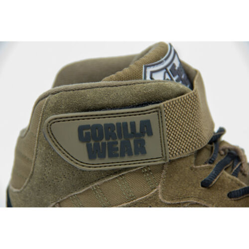 Fitness Bodybuilding Sport Schuhe Gorilla Wear PERRY HIGH TOPS PRO Army Green
