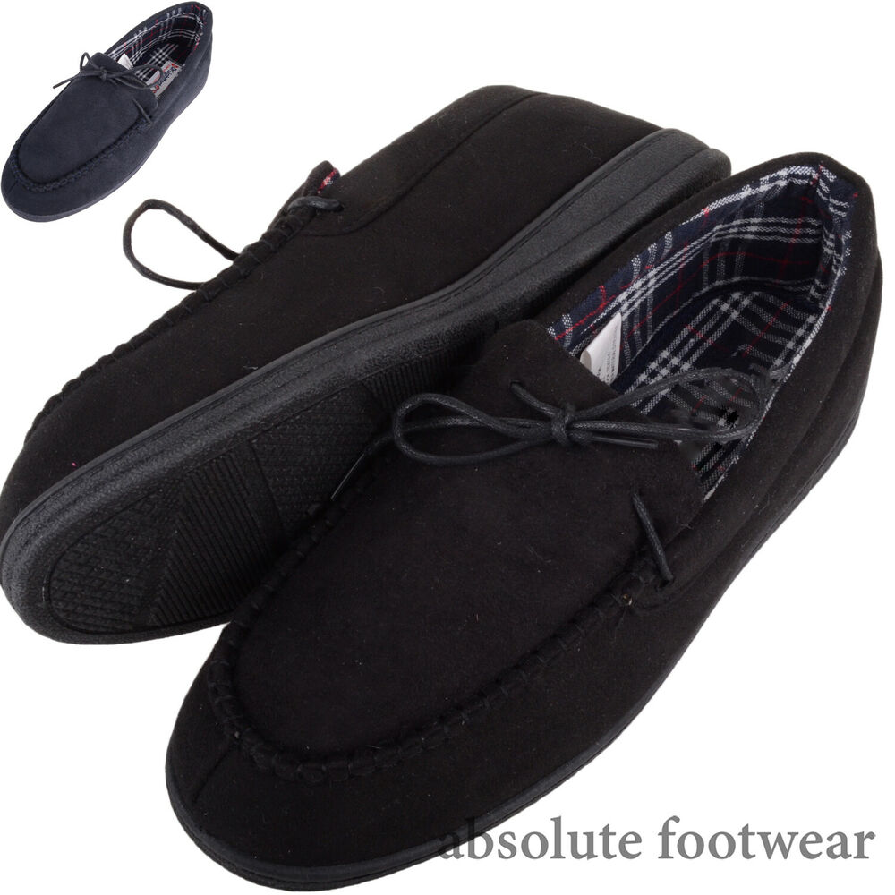 Homme/homme Slip On Mocassin Style Pantoufles/indoor Chaussures à Carreaux Inserts