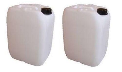 2x25l litre d/'eau en plastique Conteneur de stockage d/'essence alimentaire peut utiliser du carburant Jerry 25L