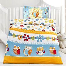 Microfaser Kinderbettwäsche Bettwäsche 100x135 Eule bunt #415390