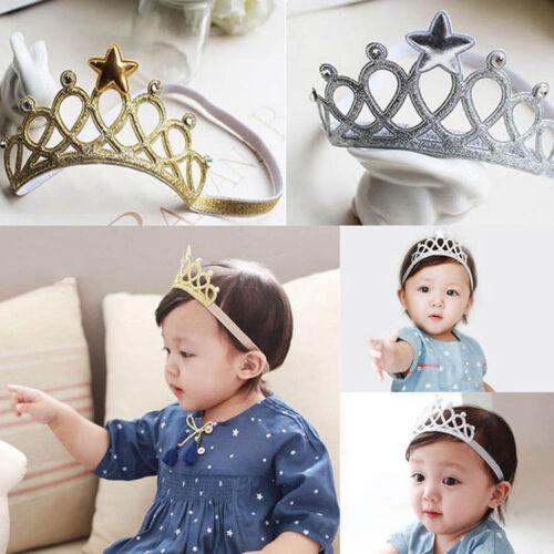 Netter Baby Haarband Zusätze Prinzessin Krone Stirnbänder für Mädchen