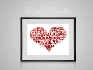 Wedding Frame Personalised Frame Anniversary Gift Engagement Gift Home D\u00e9cor Love Heart Word Art Key to my Heart Valentines Day Gift