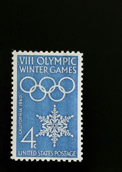1960 4c VIII Winter Olympics Games, California Scott 11