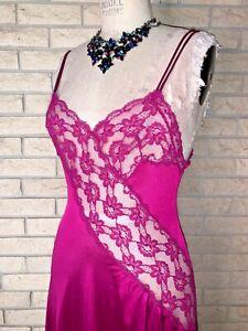 vintage 1980s nylon  lace slip dress lingerie pin up
