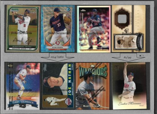 * Pick Any Minnesota Twins Baseball Card All Cards Pictured  Free US Shipping