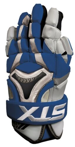 "Details about  /New STX K18 lacrosse gloves 12/"" royal blue Lax mens box field kyle harrison"