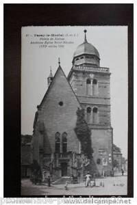 Tarjeta-postal-Antigua-PARAY-EL-MONIAL-Palacio-de-Justicia-antigua-La-iglesia